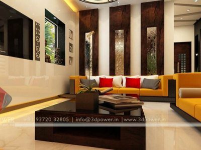 high class home living room 3d interior rendering visualization