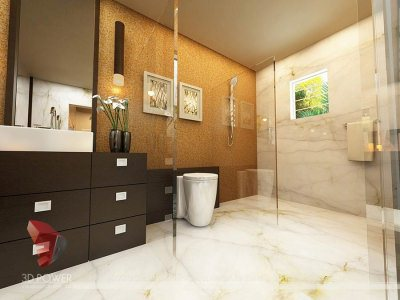 bathroom 3d interior view