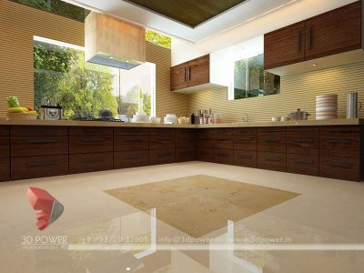 house kitchen 3d interior architectural visualization