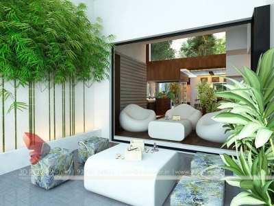 3d interior architectural rendering drawing area attach living room