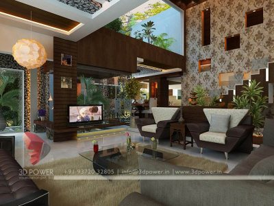 3d interior visualization living room design