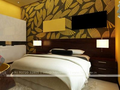 lavish bed room 3d interior renderings design
