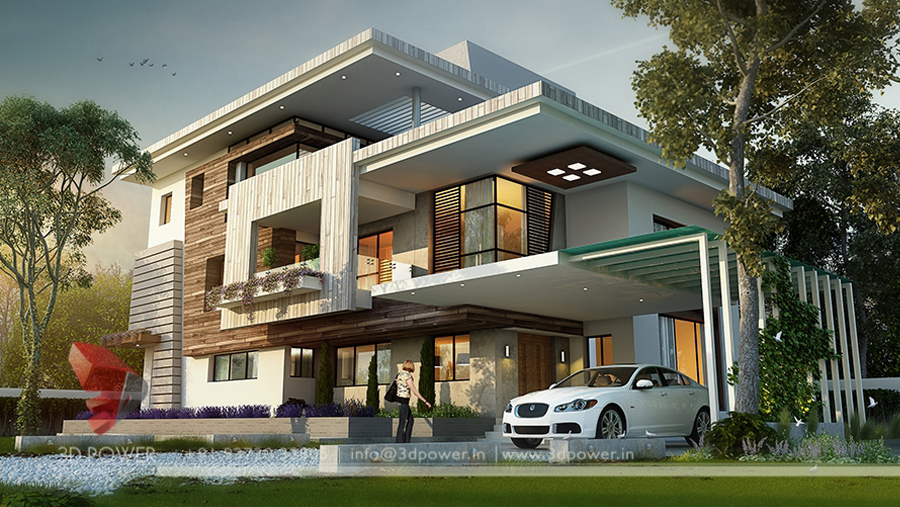 3D Bungalow Design Rendering | Contemporary Bungalow ...
