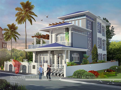 3d power bungalow design