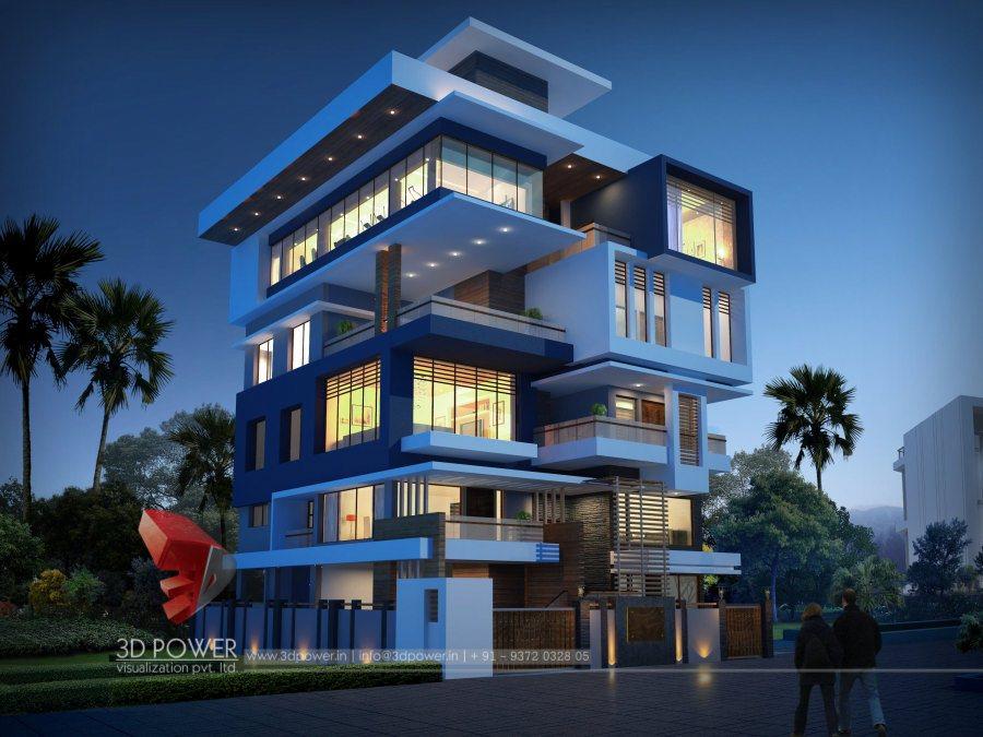 ... Designing Architectural Bungalow, Bungalow 3D Bungalow Night View, ...