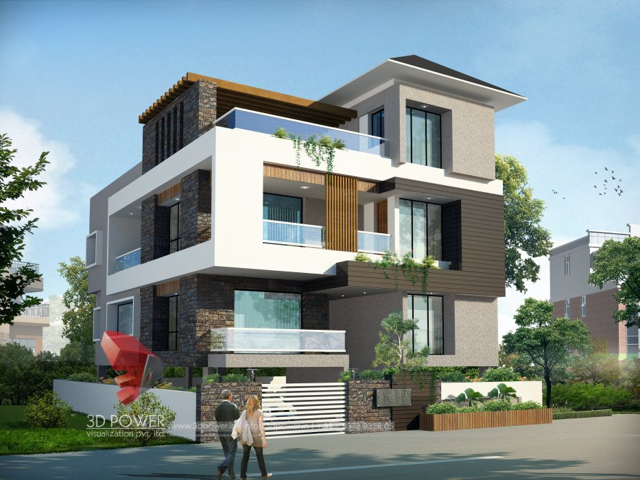 Front Elevation Of A Bungalow : Bungalow exterior elevation design