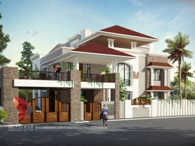Architectural Bungalow Flythrough, bungalows 3d, 3D Exterior Villa Visualization