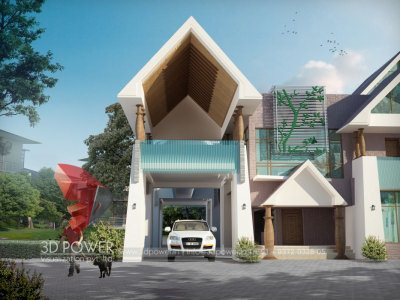 Exterior Bungalow View,Photorealistic View, Villa