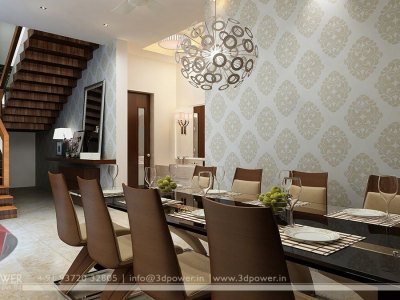 3D Dining Room Rendering Interior, 3d interior designs