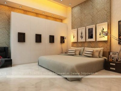Elite class bedroom interior 3d power for 3d bedroom drawing