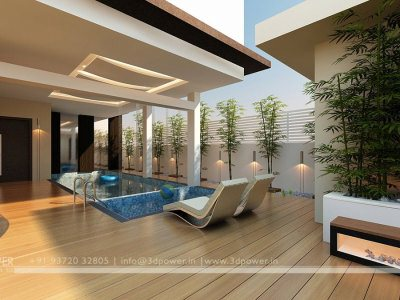 Swimming Pool Interior View, interiors, 3d interior